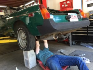 James under car